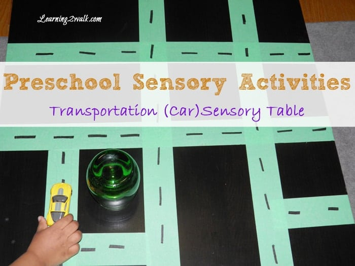 preschool sensory activities: transportation