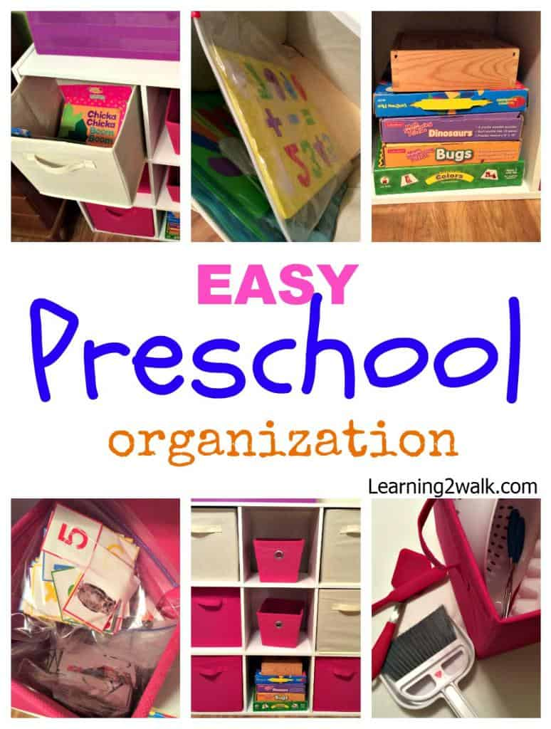 easy preschool organization