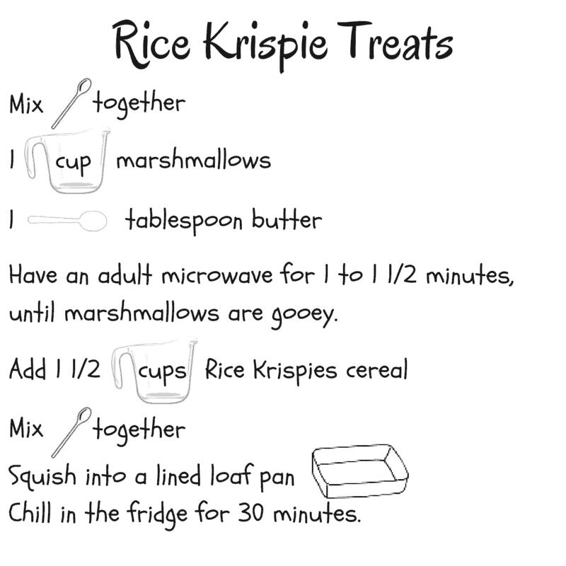 Easy preschool snack idea: rice krispies treats