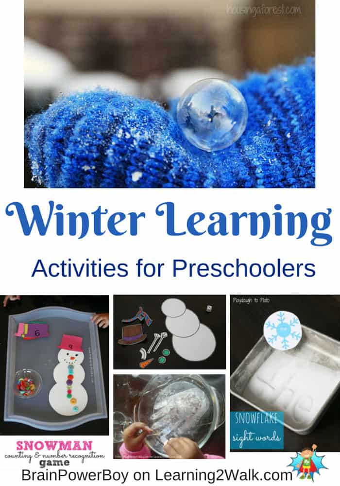 Winter Learning Activities for Preschoolers