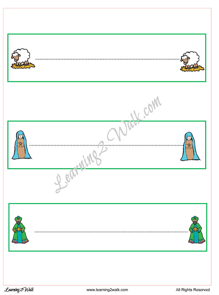 Christmas Nativity Tracing Page