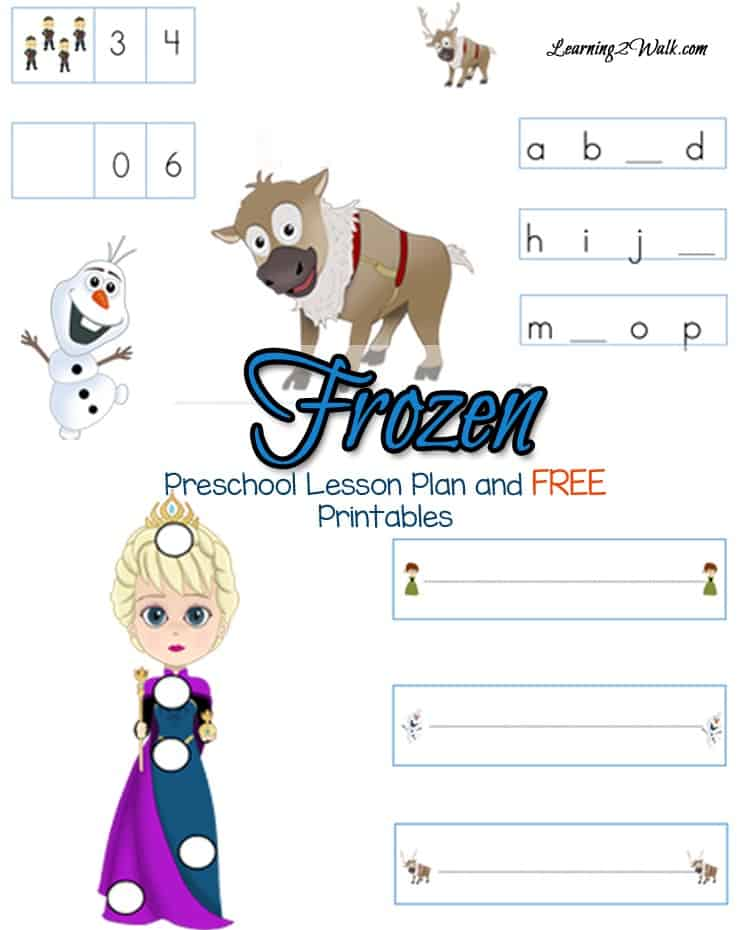 Does your preschooler love Frozen? Use these free Frozen Preschool Lesson Plan to foster their love of learning.