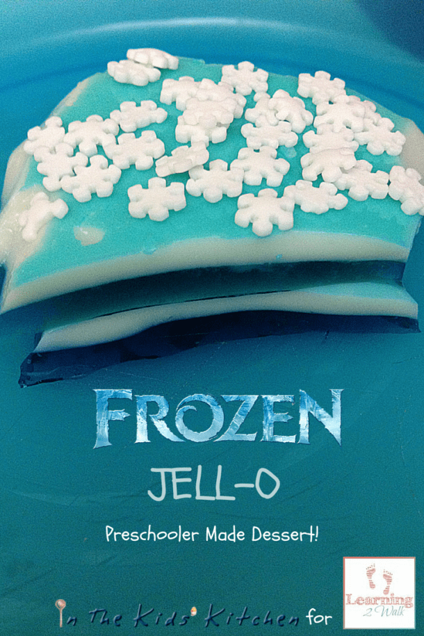 This Frozen themed jello snack was so yummy! This is a fun preschool activity to do with your kids.
