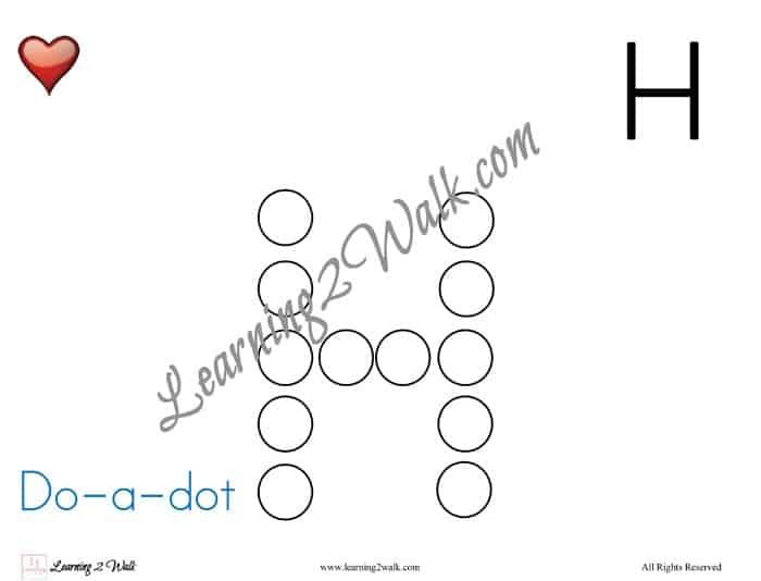 Preschool Letter Worksheet H-7