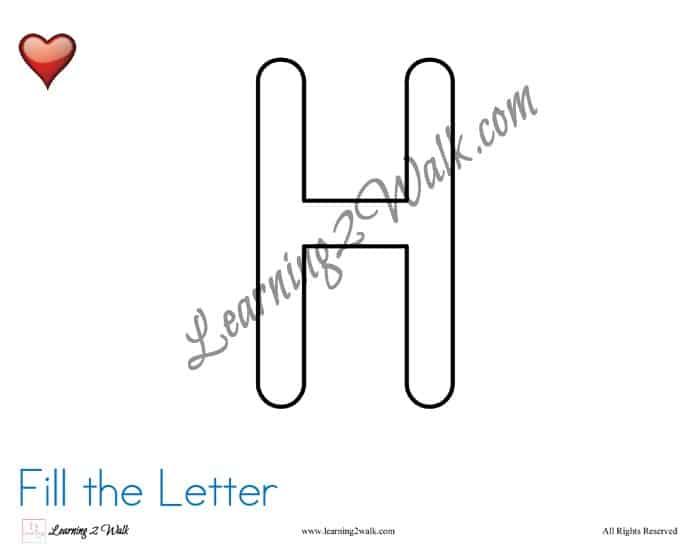 Preschool Letter Worksheet H-9