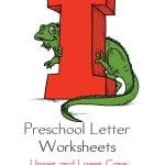 Preschool Letter Worksheets I