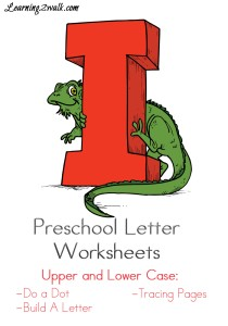 Preschool Letter Worksheets I