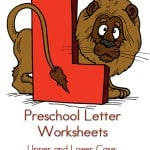 Preschool Letter Worksheets L