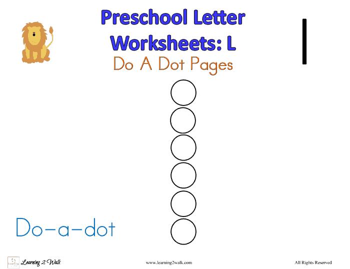 Preschool Letter L Worksheets – Letter L Worksheets for Preschool