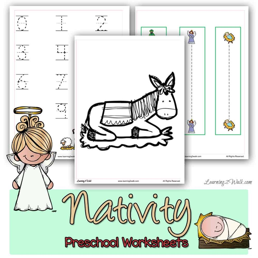 images showing nativity preschool worksheets