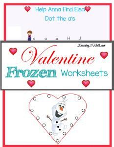 Valentine Frozen Worksheets pin