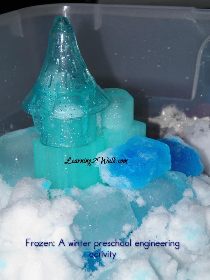 build the castle of arendelle- a frozen engineering preschool lesson plan