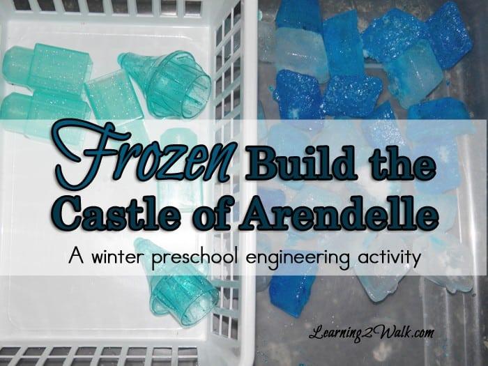 build the castle of Arendelle- a frozen preschool lesson plan