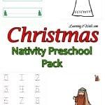 christmas activities for preschoolers- nativity fun pack
