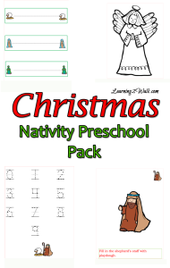 christmas activities for preschoolers- nativity fun pack
