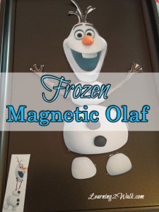 preschool lesson plan: frozen magnetic olaf