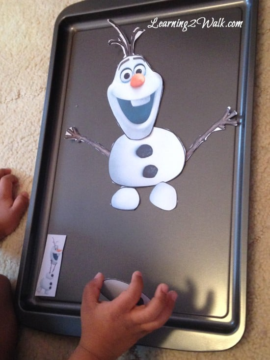 This Olaf magnetic craft is just too cute and makes a great winter kid activity or even just a fun preschool activity.