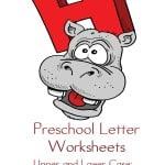 preschool letter worksheets-H
