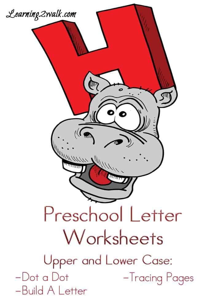 preschool letter worksheets-H