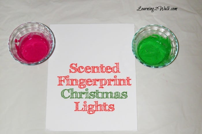 preschool lesson plan - scented fingerprint christmas lights 1
