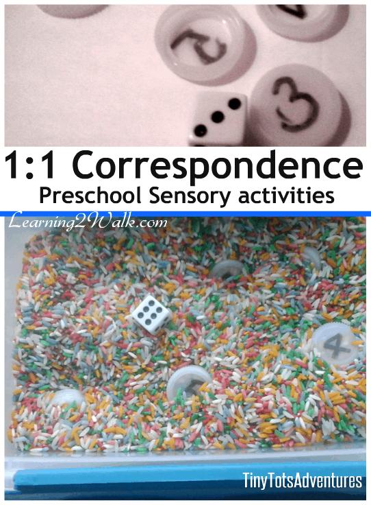 1:1 Correspondence: Preschool Sensory Activities