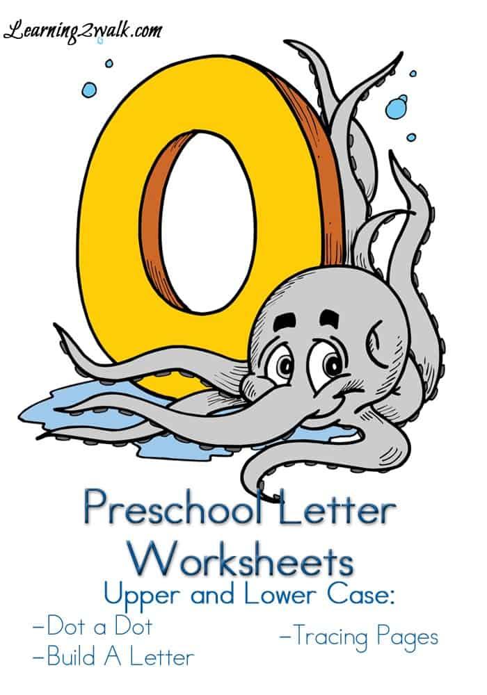Preschool Letter Worksheets O