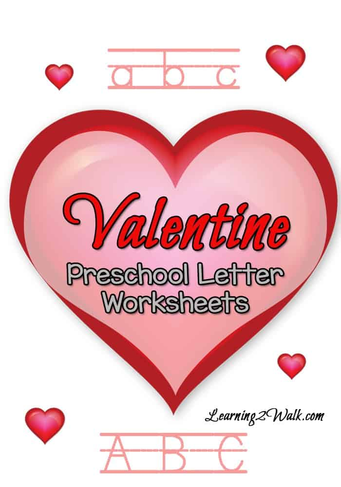 These Valentines Day Preschool Letter Worksheets are sure to be a hit with your preschoolers.