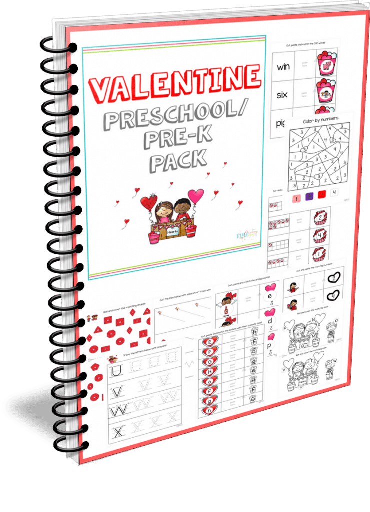 Hearts Valentines Simple Addition Worksheets and Cards for Kids