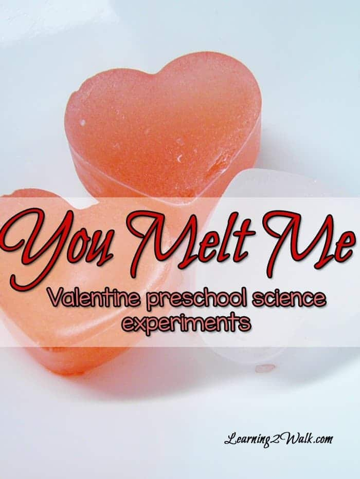 This uber cute Valentine Preschool Science expereiment was such a fun way to learn about melting. The best bit was that it was pretty easy to put together and was fun. You melt me- valentine preschool science experiments