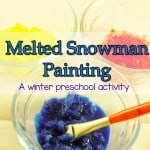melted snowman painting winter preschool activities 1