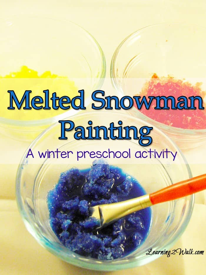 Winter Preschool Activities: Melted Snowman Painting
