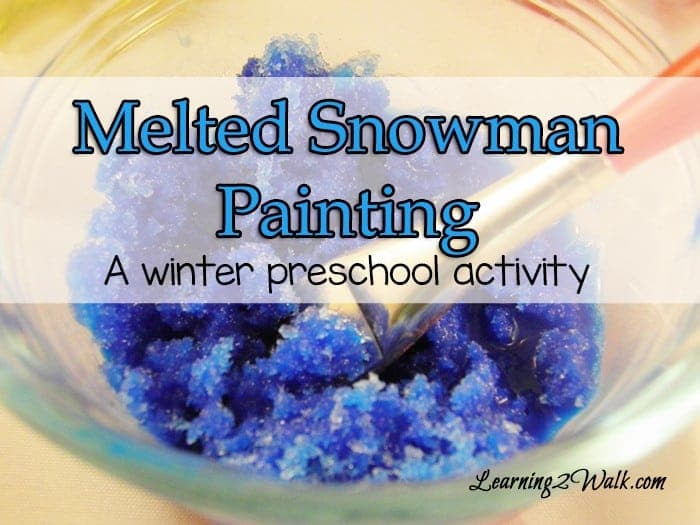 Who can resist playing in snow? How about a fun winter preschool activity that involves paint? This melted snowman painting looks like a blast.