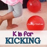 preschool activities- k is for kicking