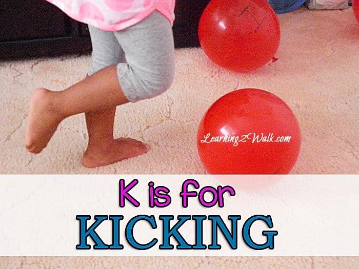 preschool activities- k is for kicking