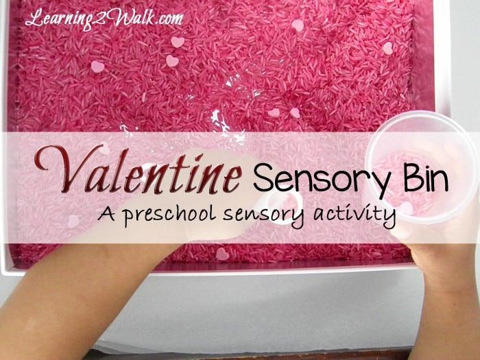 preschool sensory activities- valentine rice sensory bin