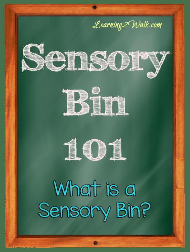 preschool sensory activities- what is a sensory bin