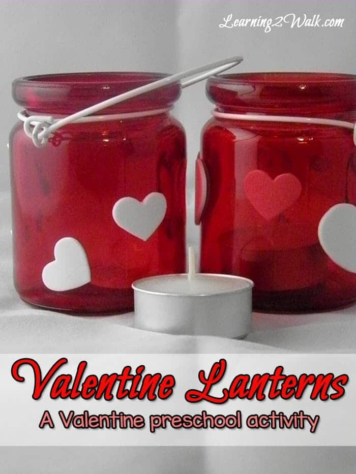 Looking for a quick and easy valentine preschool craft? These valentine lanterns are a great valentine idea!