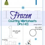 Here are some counting activities for your preschooler, especially if they love FROZEN. Try these free Preschool Frozen Counting Worksheets