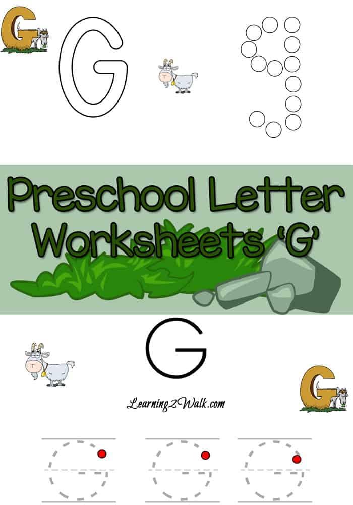 Inside The Preschool Letter Worksheets G