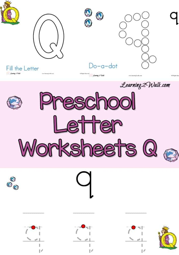 Inside the Preschool Letter Worksheets Q