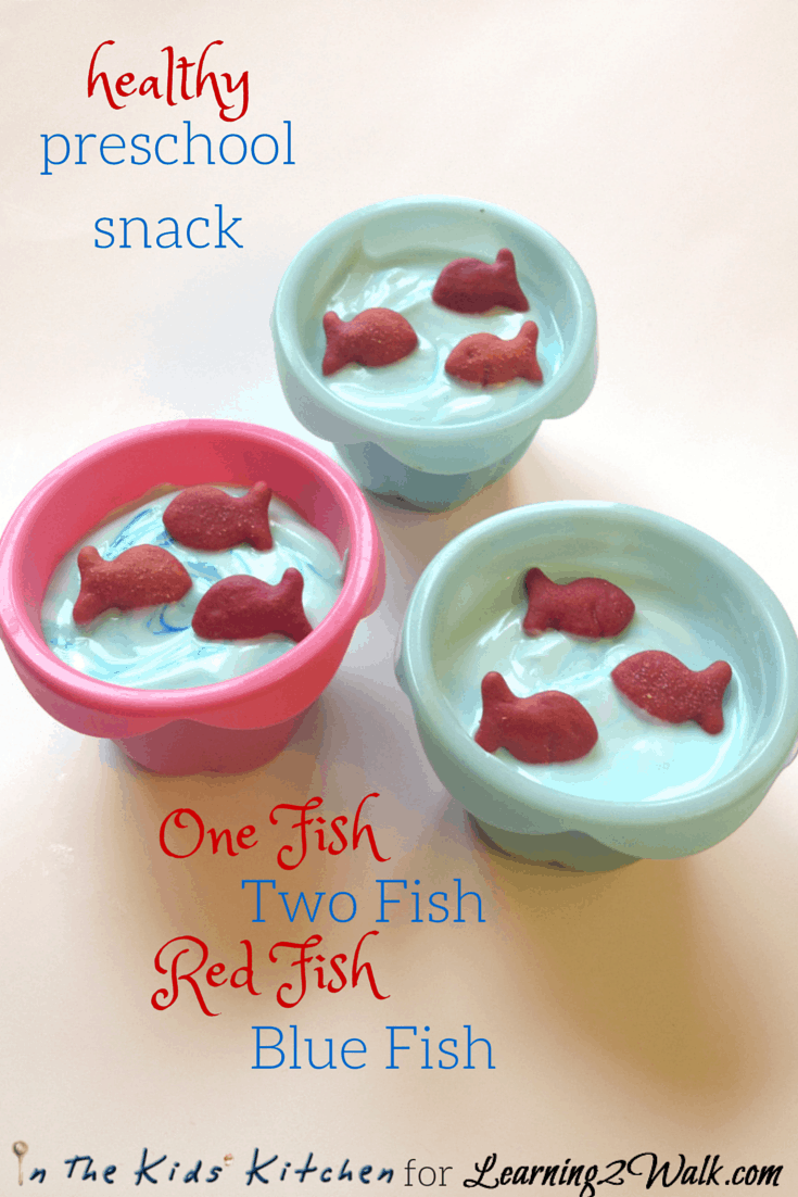 Easy Dr Seuss Snacks for Preschool: One Fish, Two Fish
