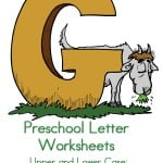 I am always on the lookout for preschool letter activities. This letter G preschool letter worksheets printable for kids has do a dots, tracing pages and more.