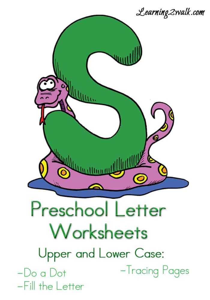 I am always on the lookout for preschool letter activities. This letter S preschool letter worksheets printable for kids has do a dots, tracing pages and more. Preschool Letter Worksheets S