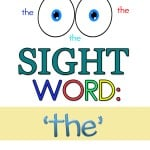 My daughter is now working on her sight words (where did the time go?) To help her, I created some free preschool sight word printables worksheets for the word 'the'