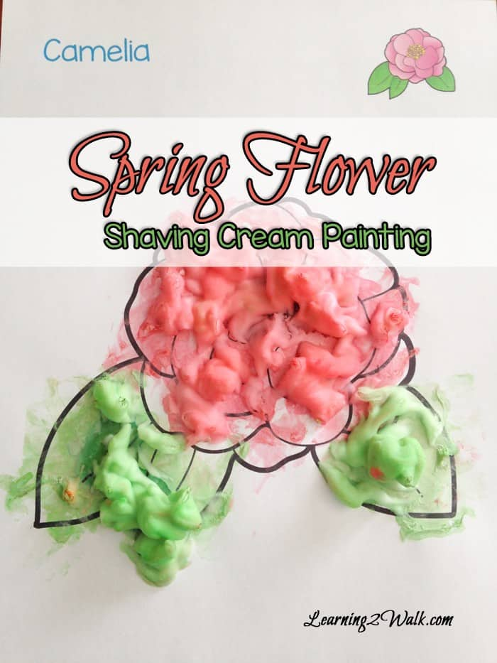 Spring where are you? Searching for spring preschool activities that are fun and easy and art? My daughter loved this Spring Flower Shaving Cream Paining. I am currently trying to figure out how to preserve her art.