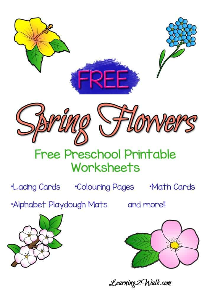 Enjoy the free lacing cards, coloring pages and more fun pages of activities in this free spring preschool printable worksheets pack.