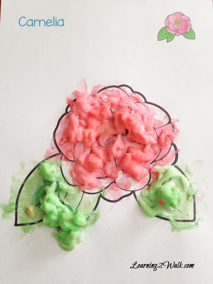 Spring where are you? Searching for preschool activities that are fun and easy and art? My daughter loved this Spring Flower Shaving Cream Paining. I am currently trying to figure out how to preserve her art.