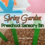 Spring is nowhere to be seen but that didn't stop us from doing a few Spring preschool sensory activities. Today we created a Spring preschool sensory bin as one of our preschool sensory activities.
