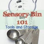 We love sensory bins as well as sensory plan and how versatile they are but trying to find the right tools for our sensory activities or even figuring out how to store them can be hard. Here are ways to help you store those sensory bottles and bins.