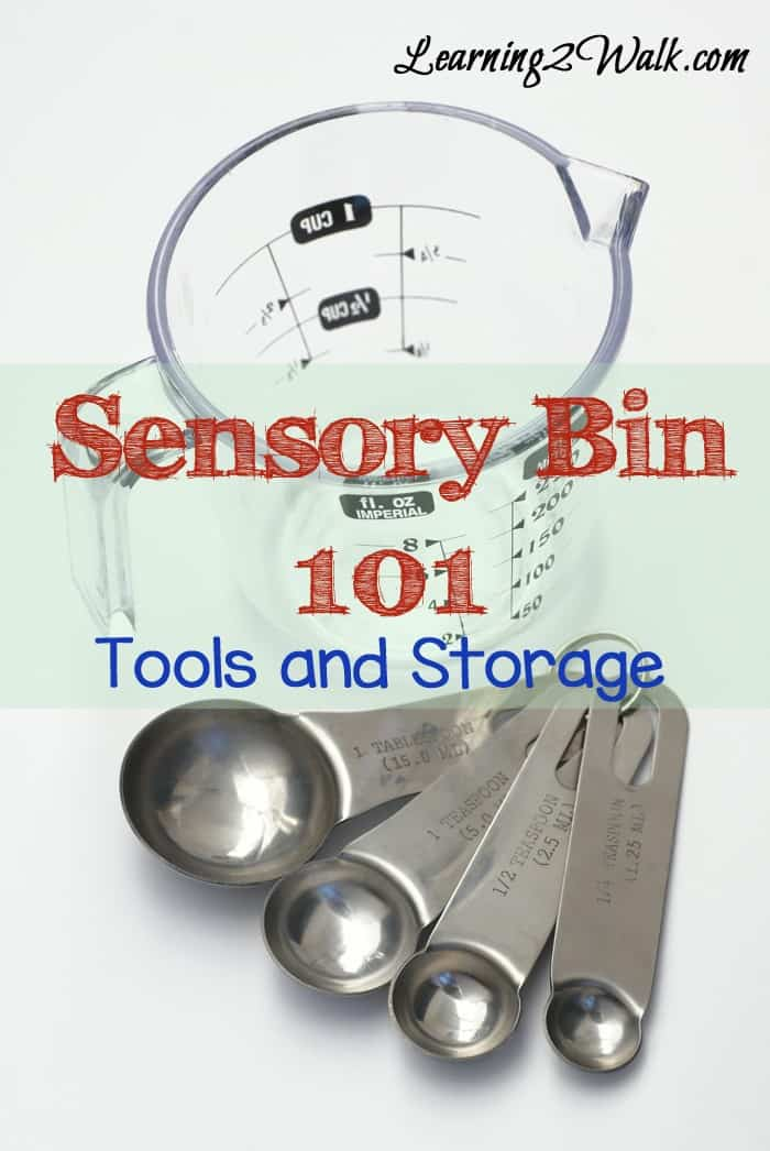preschool sensory activities- sensory bin 101 tools and storage